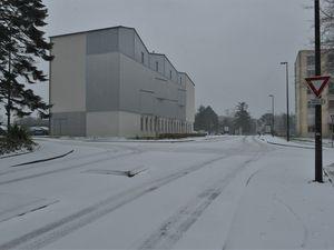 Kermoysan sous la neige ce matin