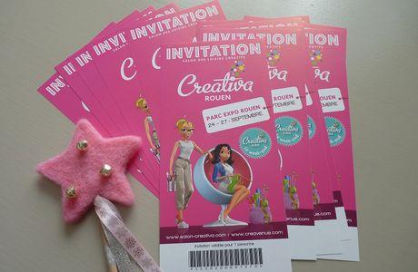 16 invitations pour le salon Créativa de Rouen à gagner