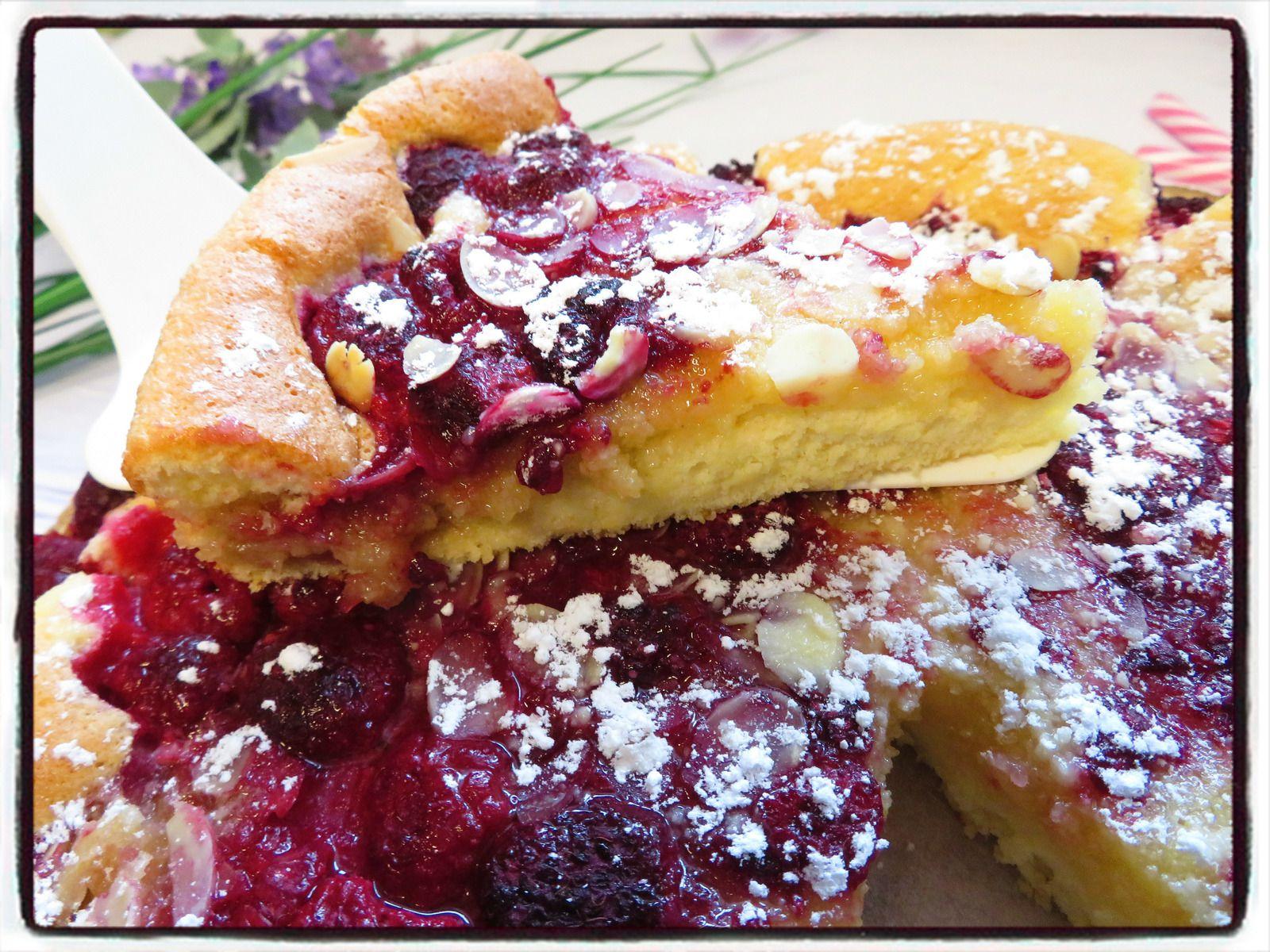 gâteaux framboise crème d'amande