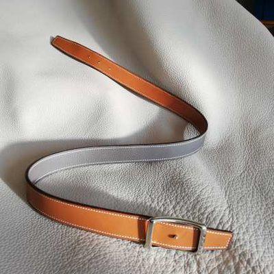 Ceinture cuir réversible / Leather reversible belt
