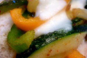 Tartines légumes et fromage :)
