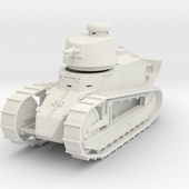 PV07 Renault FT Cannon Cast Turret (1/48) by mpennock on Shapeways