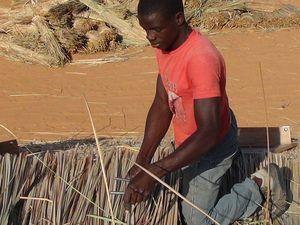 Portraits croisés des chaumiers à Afrika Mandela Ranch...