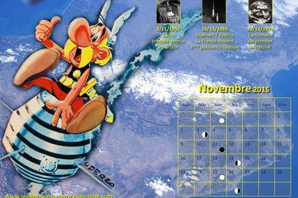Le calendrier spatial et astronomique pour novembre 2015 : Astérix, Laïka et Meteosat en orbite…