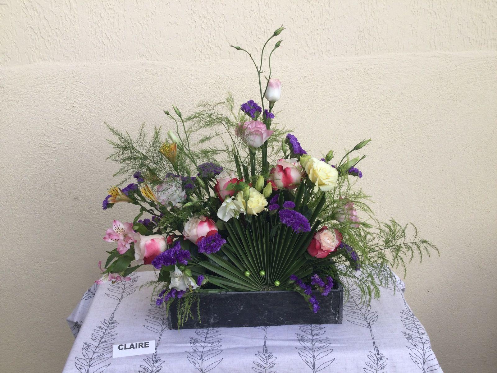 Chamerops, Lysanthus, Alstroméria, Treefen, Statice, Roses