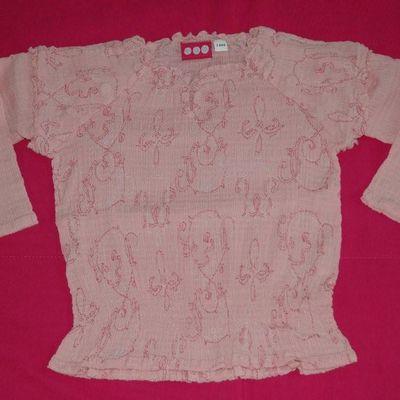 Tee shirt rose TCF - 3 ans
