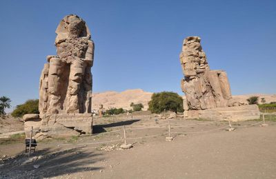 Les colosses de Memnon, Visite site d'Egypte antique