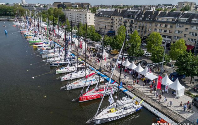 La flotte de la Normandy Channel Race 2018 au complet à Caen