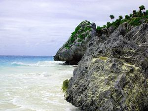 Baignade à Playa Ruinas, Tulum.
