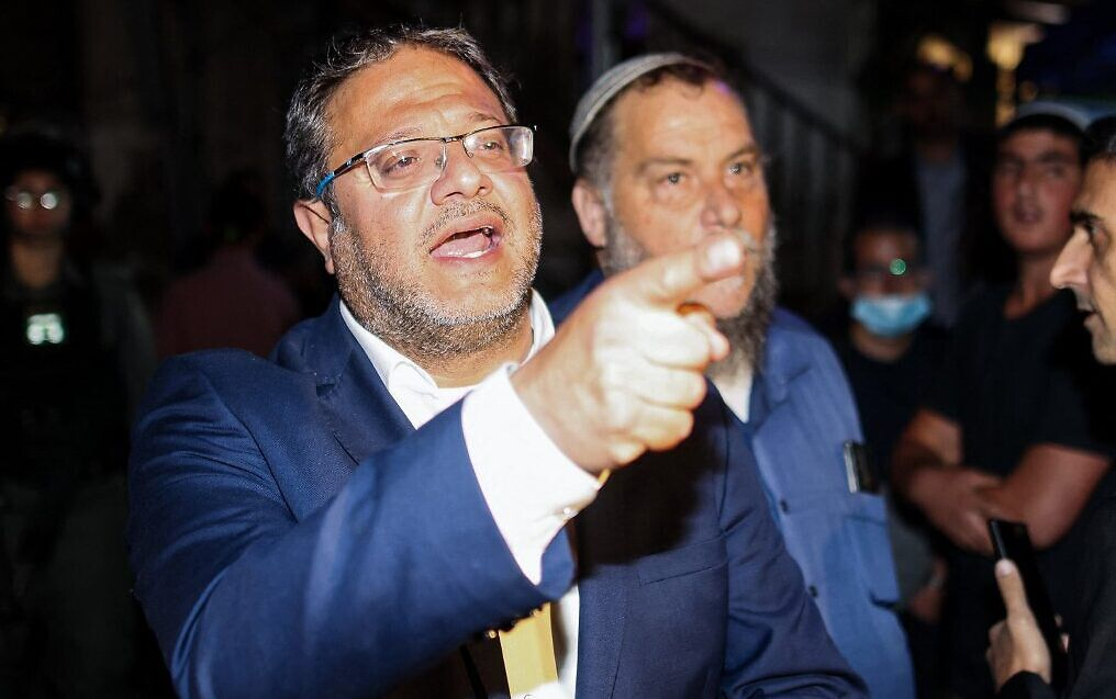 Le député d'extrême-droite israélien Itamar Ben Gvir a mené les colons émeutiers à Sheikh Jarrah.