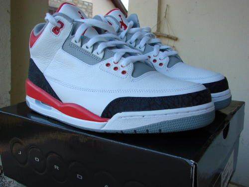 Nike Air Jordan III Rétro (White/Fire Red/Cement Grey)