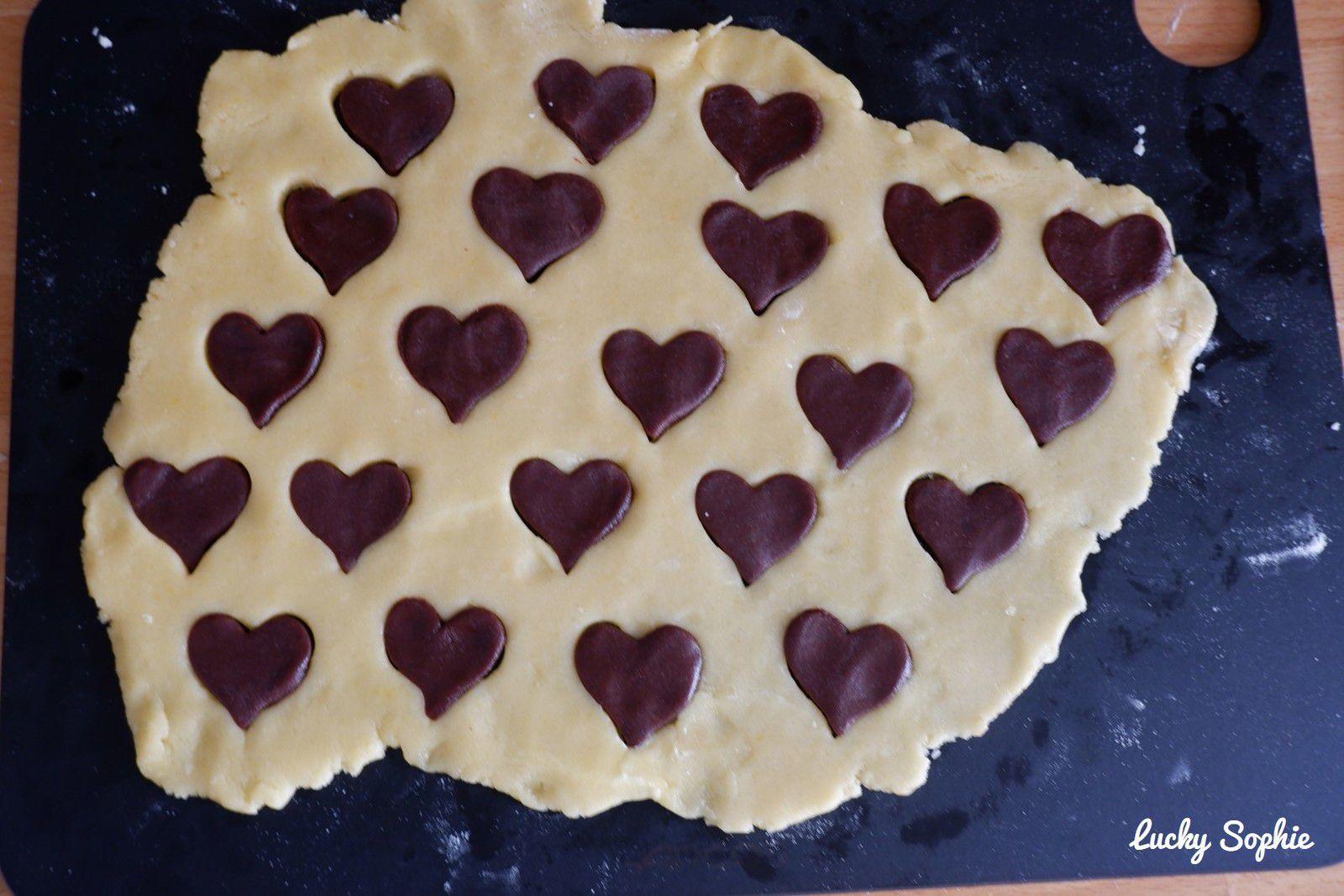 Sablés coeur vanille cacao