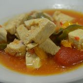 Poulet basquaise weight watchers recette cookeo |