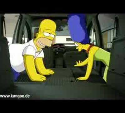 Simpsons werben für Kangoo