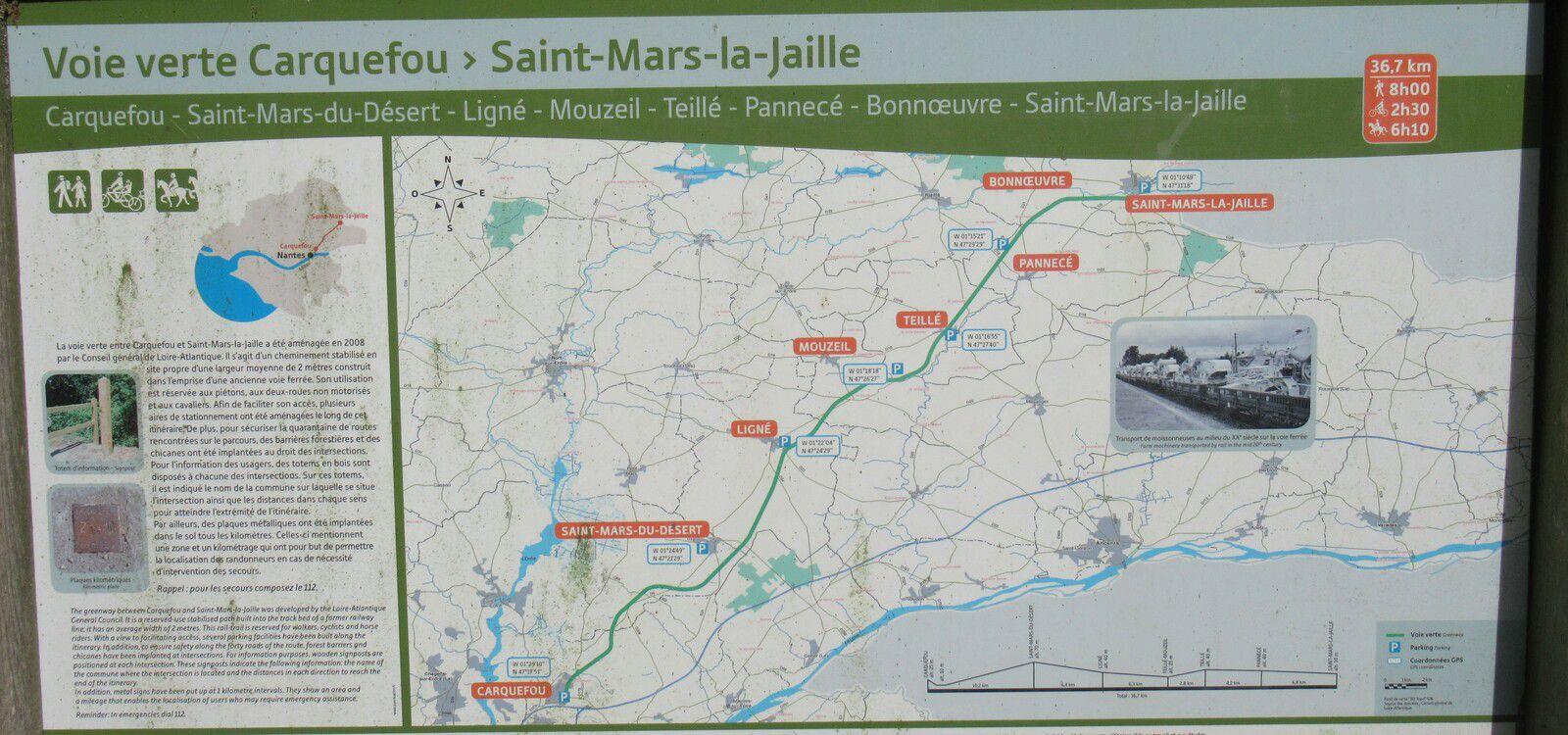 La voie verte de Saint-Mars-la-Jaille à Saint-Mars-du-Désert - 53,4 km - A.R