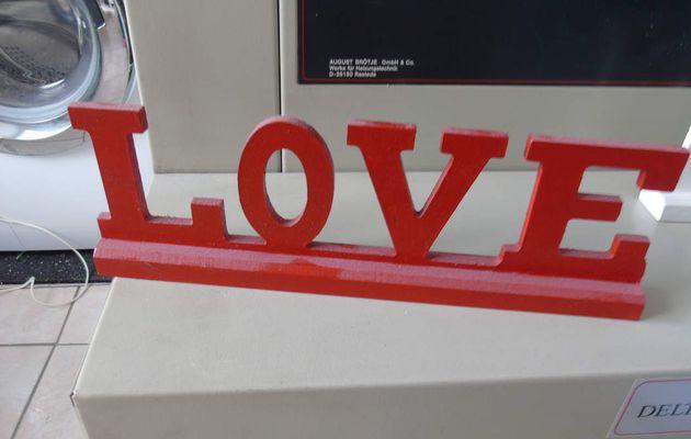 LOVE en bois relooké..