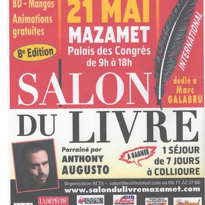 Au Salon du livre de Mazamet le dimanche 21 mai