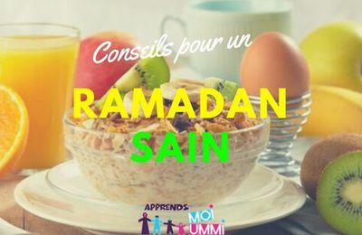 Conseils pour un ramadan sain