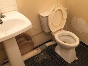 Studio, avant: la salle de douche
