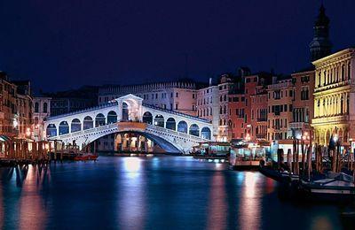 Ville - Nuit - Lumières - Venise - Italie - Pont - Photographie - Wallpaper - Free