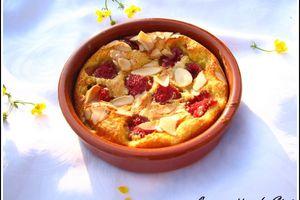 Cassolette, clafoutis à la framboise