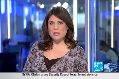 2012 02 01 @21H00 - HANNAH MOFFAT, FRANCE 24, LIVE FROM PARIS