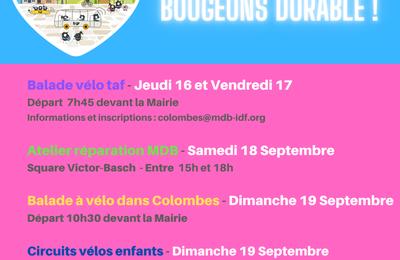 Semaine Européenne de la mobilité : les animations du week end à Colombes