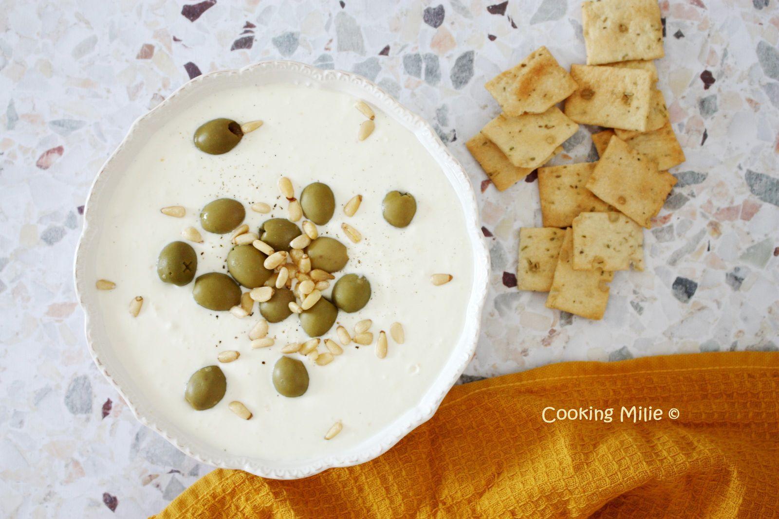 Apéritif dinatoire #118 - Crème de feta aux olives vertes
