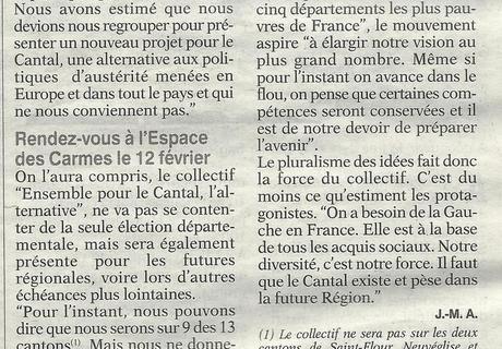 """""""La volonté de proposer une alternative à la Gauche"""""""