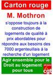 Carton rouge pour M. Mothron : logements insalubres - besoins de logements de qualité abordables