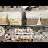 DIY-CAIXAS ORGANIZADORAS #3/REFORMA EM BAHEIRO RÁPIDA E BARATA