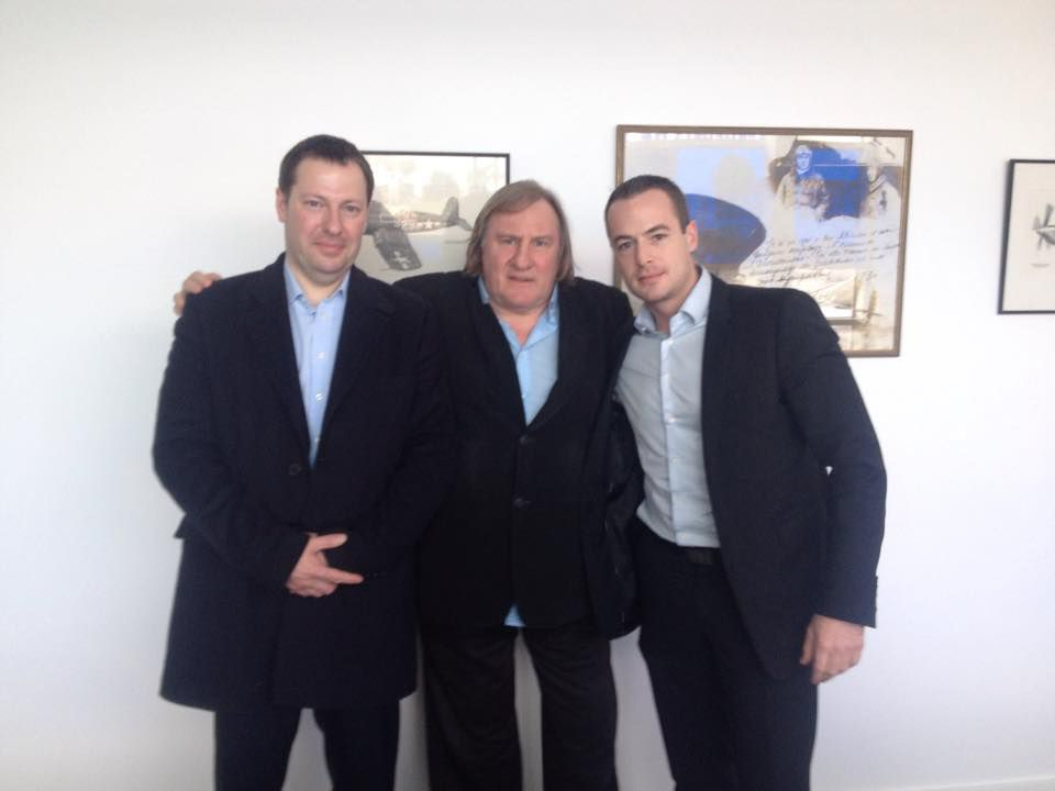 Pierre Malinowski avec Gérard Depardieu, 27 janvier 2015, (c) Facebook/Marc Rylewski