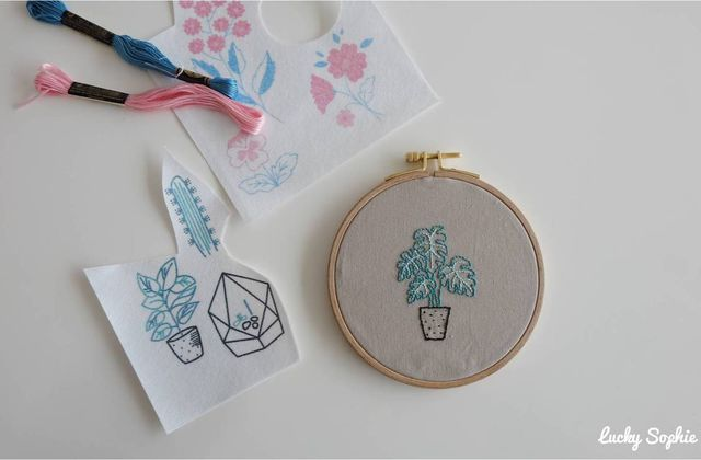 Broderie facile avec le kit magic paper dmc