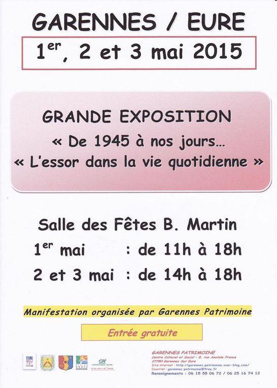 Exposition GP des 1er, 2 et 3 mai 2015