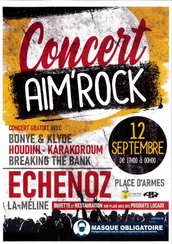 Concert Aim'Rock le 12 septembre