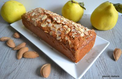 Coing cake amandes et gingembre