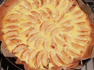 Tarte aux pommes speculos et noisettes