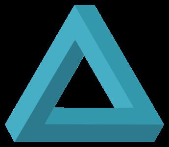 une figure impossible en triangle dont les poutres ne sont pas dans le même plan