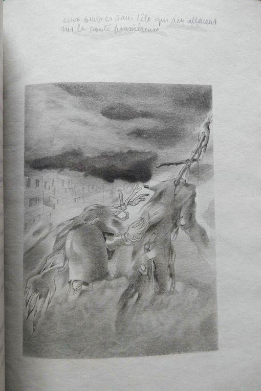 Le bandeau du site est extrait de la gravure de l'épouventail renversé., ce dessin est très proche de l'ex-libris dessiné pour sa soeur Edith.