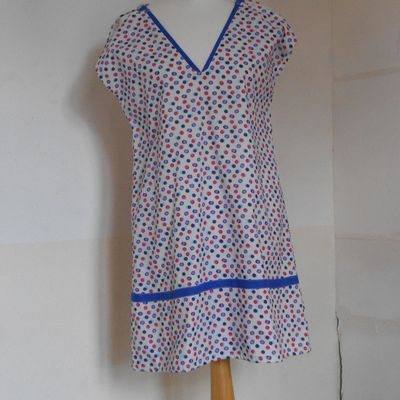 robe fausses manches poitée