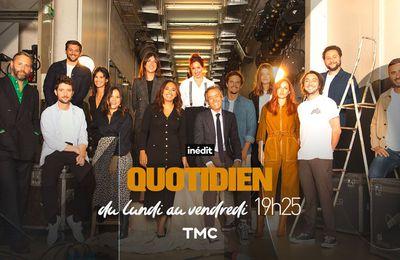 """Audience record depuis la rentrée pour """"Quotidien"""" sur TMC"""