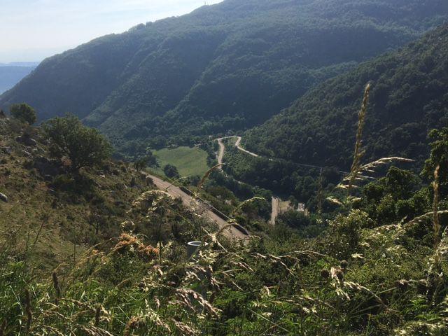 Col de Benas, depuis Privas