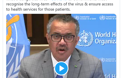 Emission 30 Octobre 2020 - WHO - Listening to  @PaulGarnerWoof , Martha Sibanda &  @Lythb7  share their experiences & array of symptoms, it reinforces what a dangerous virus #COVID19 is. Governments must recognise the long-term effects of the virus & ensure access to health services for those patients.