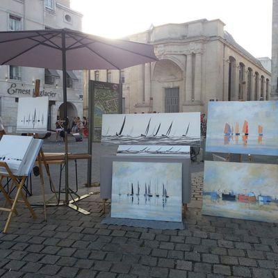 Face au Port de La Rochelle entre les tours ou à l'atelier du peintre, Travaux 2018