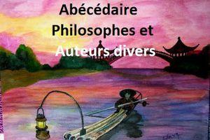 Abécédaire... Philosophes et auteurs divers. A