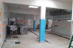 Premières photos pour les travaux de rénovation de la cantine