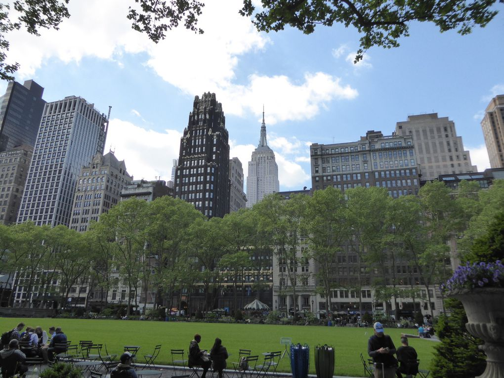 New York City, Bryant Park et Grand Central - Mai 2017
