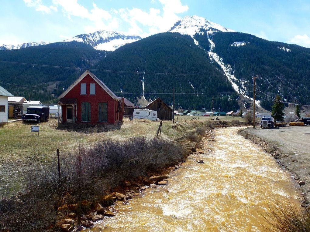 Animas river (au niveau de Aztec et Durango) et Cement creek en avril 2016