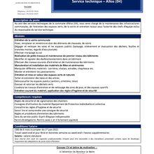 Offre emploi  ; Allos Agents polyvalent