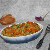 Quinoa aux carottes et courgettes - Chez Vanda